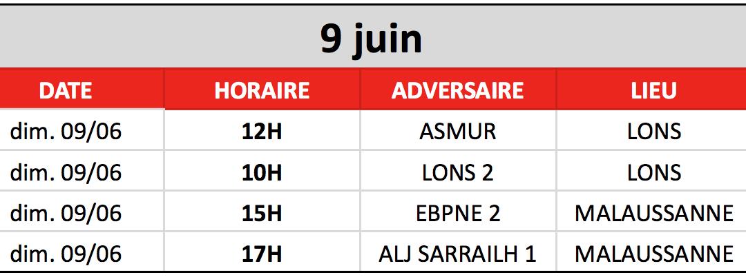 Finales jeunes du 9 Juin 2019